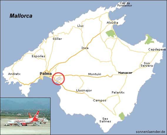 Gran Canaria Karte Flughafen.Flughafen Palma De Mallorca