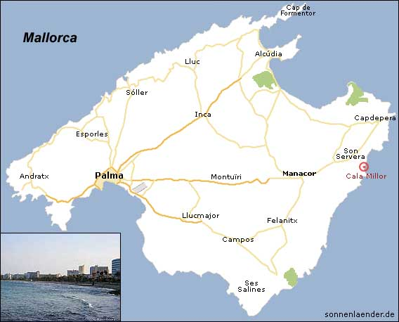 Strand von Cala Millor, Mallorca